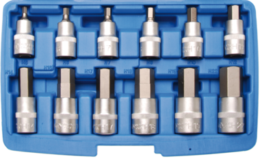 Bgs Technic Bit doppenset 12,5 mm (1/2) schijf interne zeshoek 12-delig
