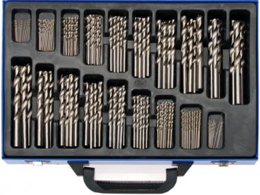 Spiraalborenset HSS 1 - 10 mm 170-delig