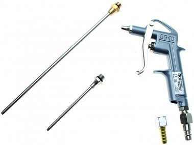 Bgs Technic Luchtdrukpistool aluminium druk spuitgieten met 3 hulpstukken