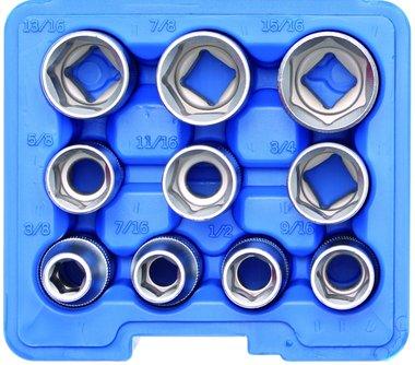 Bgs Technic Dopsleutelset zeskant 12,5 mm (1/2) inch 10-delig