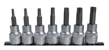 Bgs Technic Bit Socket Set Aandrijving 10 mm (3/8) Torx 7 delig