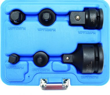 Bgs Technic Kracht adapter verloop set, 6 delig