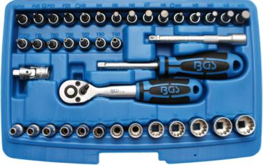 Dopsleutelset Gear Lock 6,3 mm (1/4) 39-delig