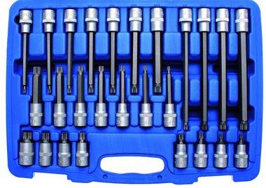 Bgs Technic Dopsleutelbitset 12,5 mm (1/2) veeltand (voor XZN) 26-delig
