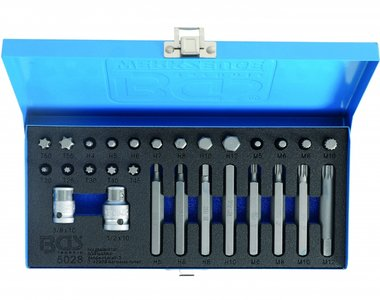 Bgs Technic Bit set 28 delig 6 kant (inbus), XZN en Torx incl. adapters