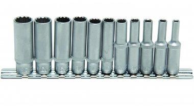 Bgs Technic Dopsleutel set, diep, 12-kant, 6,3 (1/4), 11 delig