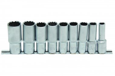 Bgs Technic Dopsleutel set, diep, 12-kant, 12,5 (1/2), 9 delig