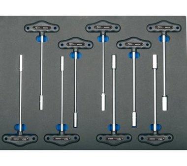 Bgs Technic 3/3 Gereedschap module 9-delig T-sleutel dopsleutel sleutel