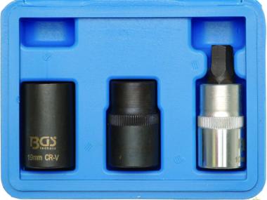Remklauw dopsleutelset 12,5 mm (1/2) 3-dlg