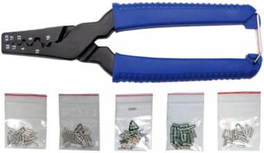 Bgs Technic Krimptang voor adereindhuls, incl. 150 sleeves