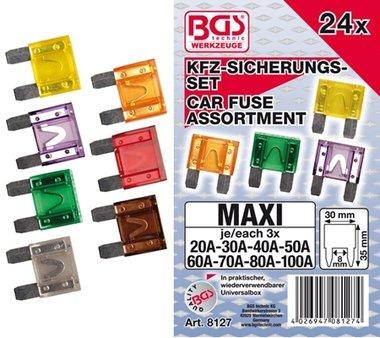 Bgs Technic 24 stuks Automobiel Maxi Zekering Set