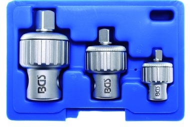 Bgs Technic 3-piece Ratchet Adapter verloop set