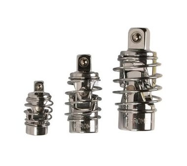 Kruiskoppeling Set met lente 6,3 mm (1/4) / 10 mm (3/8) / 12,5 mm (1/2) 3 delig