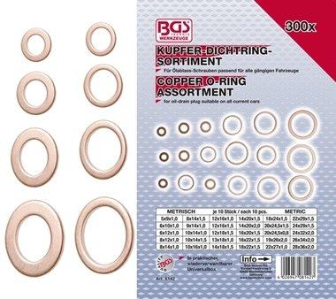 Bgs Technic 300-delige Koper O - Ring Assortiment