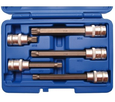 Bgs Technic Bit doppenset 12,5 mm (1/2) drive Spline 5 delig