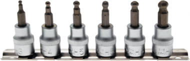 7-delige Bit Houder Set 3-8 mm 6 - pt 3/8  met kogelkop