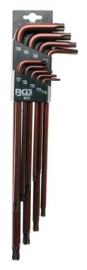 Bgs Technic Stiftsleutelset extra lang T-profiel (voor Torx) met kogelkop T10 - T50 9-delig