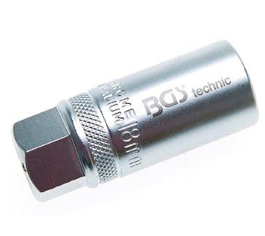 Bgs Technic Bougie-dopsleutel, 1/2 18 mm met veer