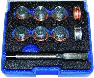 Bgs Technic Reparatieset voor olieaftap schroefdraad M14 x 1,25, 25-delig