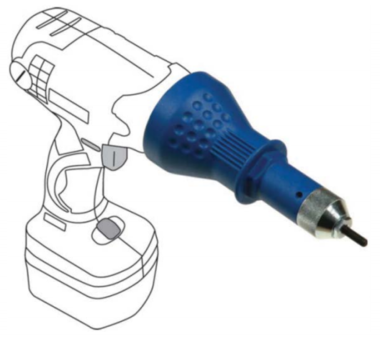 Bgs Technic Blindklinkmoeren adapter boormachine M3 - M4 - M5 - M6