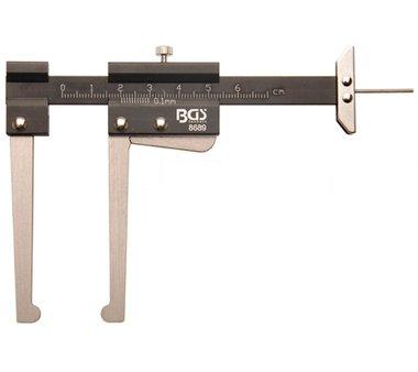 Schuifmaat, remschijf dikte meter