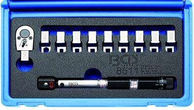 Torsiesleutel voor Spaken, verwisselbare koppen 3 - 15 Nm