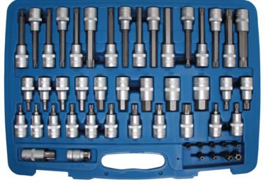 Bgs Technic Bit doppenset | 12,5 mm (1/2) aandrijving, 8 mm (5/16) aandrijving | 49 stks