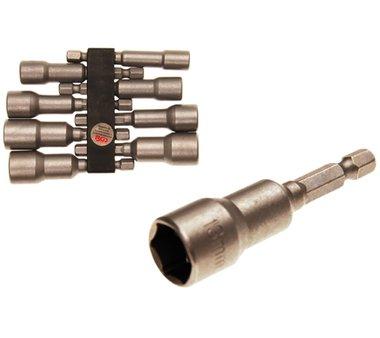 Bgs Technic Dop Set, Hexagon 6.3 mm (1/4) drive voor electric drills 6 - 13 mm 8 delig