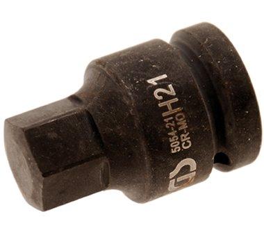 3/4 binnenzeskant Bit Socket, 21 mm