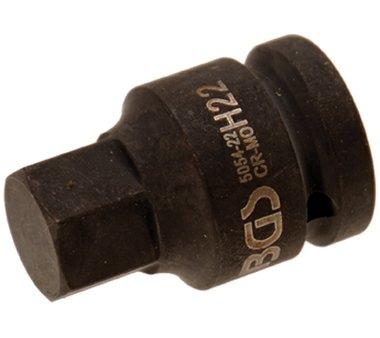 3/4 binnenzeskant Bit Socket, 22 mm