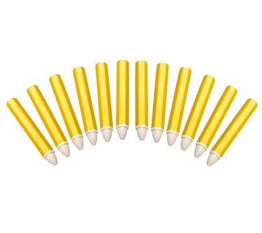 Vetkrijtstift wit 12 stuks