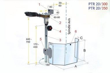 Beschermkap voor grote boormachines PTR 20/350 LINKS, 4,20kg
