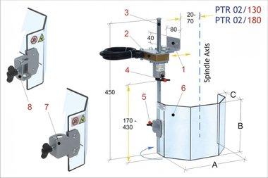 Beschermkap traditionele boormachines PTR02/130, 2,50kg