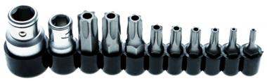 Bgs Technic Bit Set | Aandrijving 10 mm (1/4) / 10 mm (3/8) | Torx tamperproof (voor Torx) | 11 stks