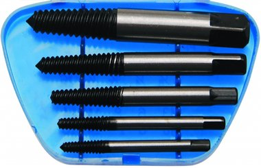 Bgs Technic 5-delige screw extractor set, maten 1-5