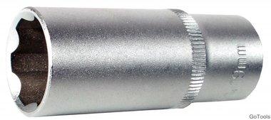 3/8 diepe dop, super lock, 14 mm