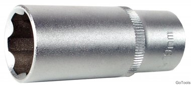 3/8 diepe dop, super lock, 19 mm