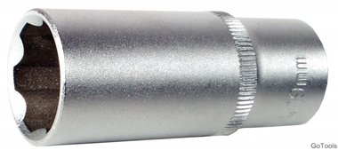 3/8 diepe dop, super lock, 18 mm