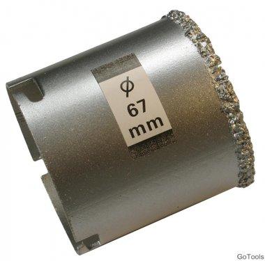 Gatzaag voor tegelboor diameter 67 mm