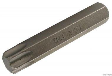 Bit lengte 80 mm 14 mm buitenzeskant T-profiel (voor Torx) T70