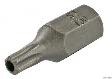 Bit t-profiel met gat, 30 mm lang, t30, 3/8