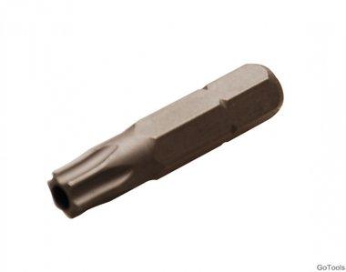 Bit 6,3 mm (1/4) buitenzeskant T-profiel (voor Torx) met boring T35
