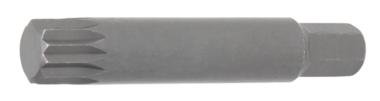 Bit lengte 75 mm 10 mm (3/8) buitenzeskant veeltand (voor XZN) M14
