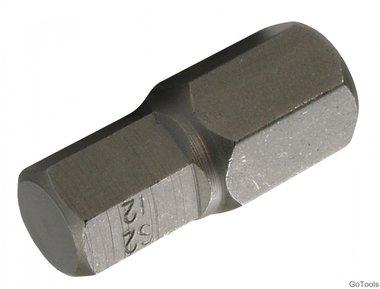Int. Hex. Bit 30 mm korte 12 mm, 3/8
