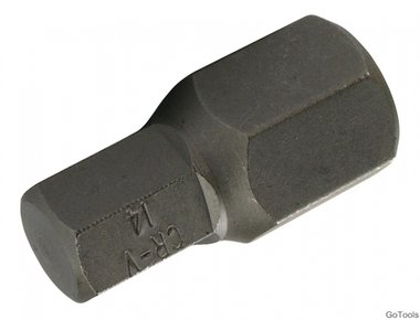 Int. Hex. Bit 30 mm korte 14 mm, 3/8