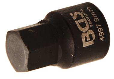 Remklauw Socket | interne zeshoek | extra kort | 8 mm