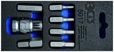 Bgs Technic Schroevendraaierbitset Aandrijving 10 mm (3/8) interne zeshoek 7 delig