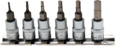 Bgs Technic Bit dop Set | 6,3 mm (1/4) schijf | intern Zeskant 1,5 - 6 mm