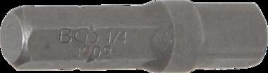 Bgs Technic Bit-ratelsleuteladapter buitenzeskant (1/4) - buitenvierkant (1/4) 30 mm