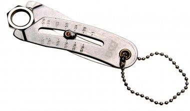 Sleutelwijdte meter voor metrisch en inch maten